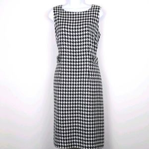Jessica Howard-Black & white Houndstooth dress 12